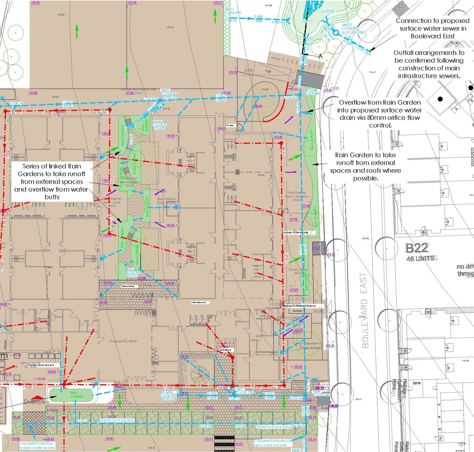 Proposed Drainage Strategy 2FE Primary School Bishop's Stortford